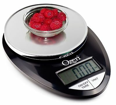 Pro Digital Kitchen Food Scale, 1g to 12 lbs Capacity, in Stylish Black