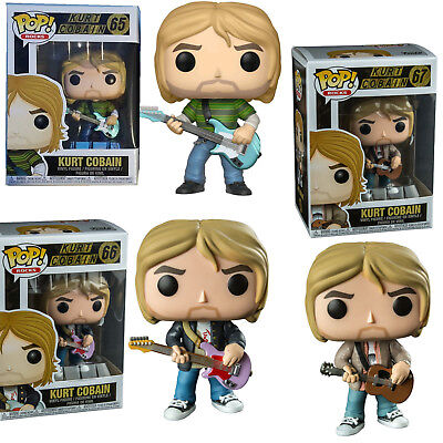 3 Set Kurt Cobain - Nirvana Live & Loud Teen Spirit MTV Unplugged Pop! Vinyl