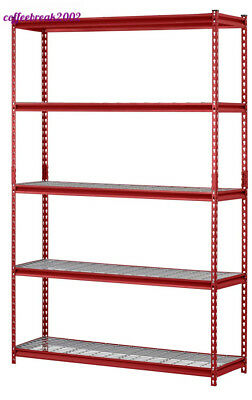 "Muscle Rack UR184872-R 5-Shelf Steel Shelving Unit, 48"" Width x 72"" Height x..."