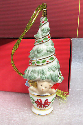 Lenox Christmas Tree with Gifts Porcelain Ornament