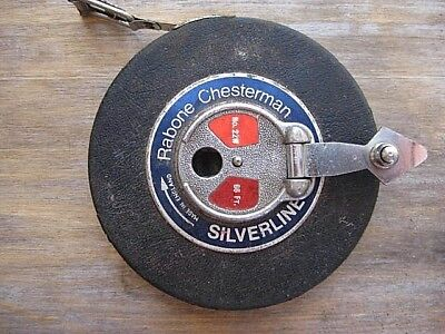 Vintage Rabone Chesterman 66 ft Silverline Tape Measure