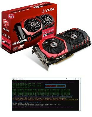 MSI Radeon RX 580 Gaming X 8GB - BIOS MOD - 31 MHs - Only for Hynix and Samsung
