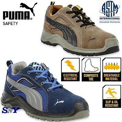 cb28a6c0ed9 Puma Safety Men s Omni Sky Composite toe suede work shoes boots slip  resistant