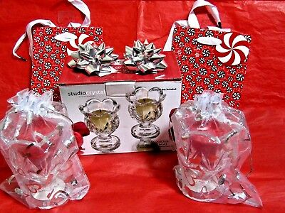 Valentine Day Gift Yankee Candle TULIP votives & Glass Flower Votive Holder Set