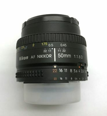 Nikon Nikkor 50Mm 1:1.8 D Af Lens With Cover And Clear Cap