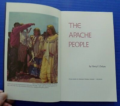 1971 Signed Indian Tribal Series THE APACHE PEOPLE Fred Banashley Sr. Chairman