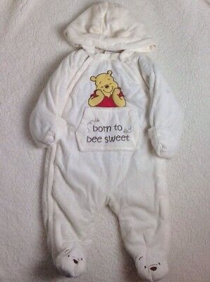 Winnie the Pooh 1 Piece Snowsuit Disney Baby Bunting 12 months Plush Thick Warm