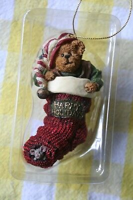 Boyds Bears & Friends Christmas ornament Otto Elfbeary Bearstone Coll. Retired