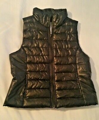 "Aeropostale Black Puffy Quilted Vest ""Live Love Dream""-line size Large-Juniors"