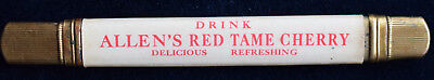 Drink Allen's Red Tame Cherry Scarce Advertising Pencil Holder Celluloid & Brass