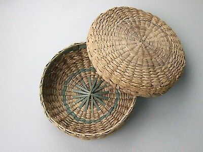 Fine Old Missouri Collection Arrowheads Artifacts Historic Woven Basket