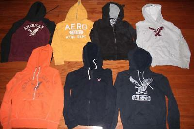 Lot Of 7 American Eagle Mens Hoodies Hooded Sweatshirts Aeropostale All Size Xs