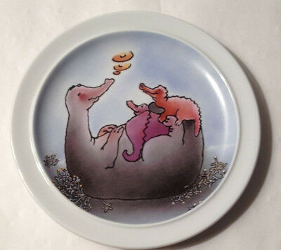 Vintage 80's Thomas Of Germany Decorative Plate with Dinosaurs