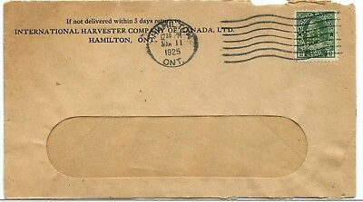 IHC International Harvester Co. PERFIN 1925 Admiral cover Canada
