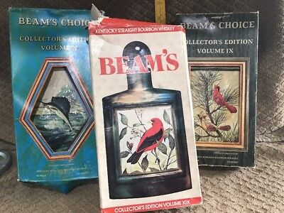 Vintage Beam's Choice Collector's Edition Bottles Lot Of 3 In Original Box