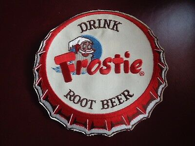 Frostie Root Beer Uniform Patch Large Bottle Cap - 7 Inch Vintage Rare Original!