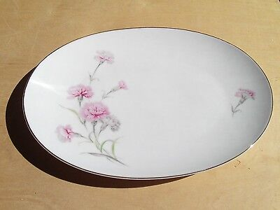 "Royal Court Fine China Carnation 9 x 6"" Serving platter"