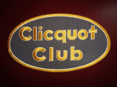 CLICQUOT CLUB UNIFORM PATCH SODA - 9 1/8 x 5 INCH VINTAGE RARE ORIGINAL!