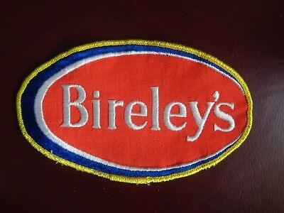 BIRELEY'S BEVERAGE UNIFORM PATCH SODA - 6 1/2 x 4 INCH VINTAGE RARE ORIGINAL!