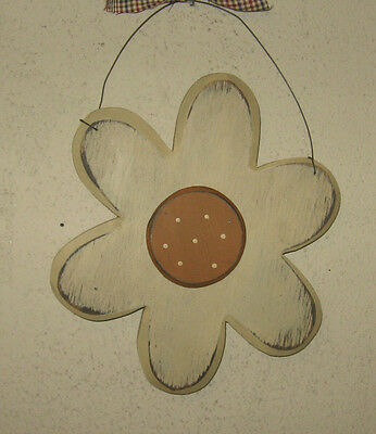 PRIMITIVE  COUNTRY  SPRING FLOWER antique white