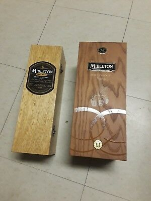 Middleton Irish Whiskey Barry Crockett Legacy and Very Rare empty boxes