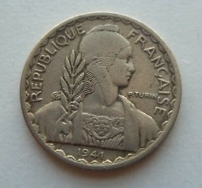 French Indo-China 1941-S 10 Cent  #km-21.1A World Coin  Free S/h