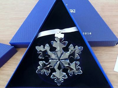 2016 Swarovski Large Crystal Snowflake Christmas Ornament