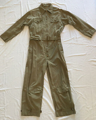 Original Us Army Air Corps An 6550 M-42 Summer Flying Suit Size 42 Medium