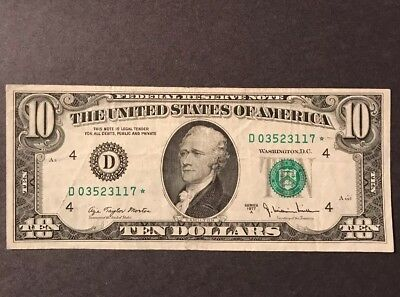 Circulated $10 Series 1977 A *STAR* Federal Reserve Note