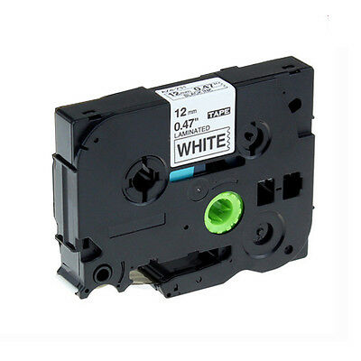 1x Black on White Label Tape Compatible for Brother P-Touch Tze-231 TZe 231