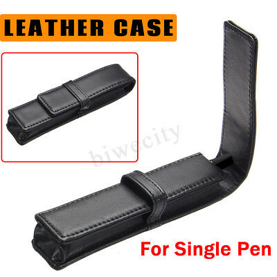 Leather Fountain Pen Case Pencil Pouch Holder Storage Sleeve Bag For Single Pen