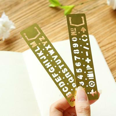 Number/Letters Template Stencil Hollow Imitate Ruler Drawing Scale Bookmarks