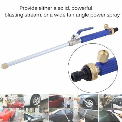 Car High Pressure Power Washer Spray Nozzle Water Gun Hose With 2x Spray Tips  I