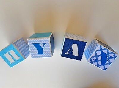 Personalised Shelf Name Blocks - nursery, child decor