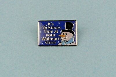 WalMart Holiday It's Christmas Time At Your Walmart Store Snowman Lapel Pin 002Q
