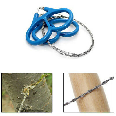 Wire Saw Camping Stainless Steel Emergency Pocket Chain Saw Survival Gear Tool