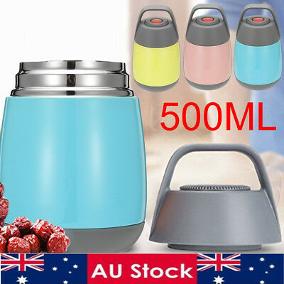 500ml Stainless Thermal Jar Food Flask Insulated Lunch Box Soup Container Drink