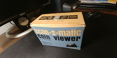 Vintage 1950s Scan-O-Matic Coin Viewer and Magnifier with light