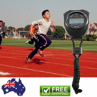 LCD Digital Sports Stop Watch Chronograph Count Alarm Timer Stopwatch Hot FK