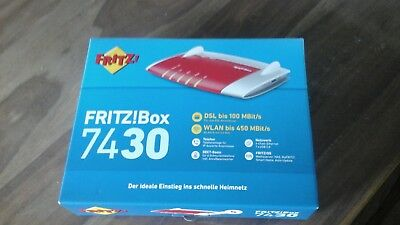 AVM FRITZBox 7430 450 Mbps 4-Port 100 Mbps Wi-Fi 802.11n Router (20002733)