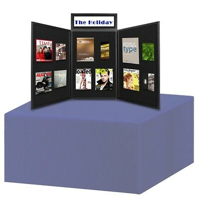 Folding Portable Display Board Exhibition Trade Show Presentation Black w/ Bag