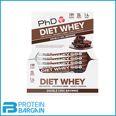 PhD Nutrition Diet Whey Protein Bars 12 x 65g BBD January - March 2020