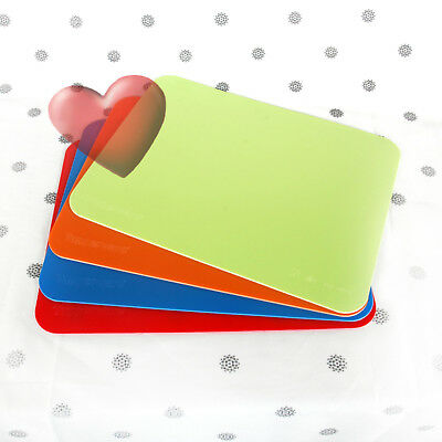 NEW Tupperware Cutting Mats Flexible Chopping Boards set of 4 Red Blue Green