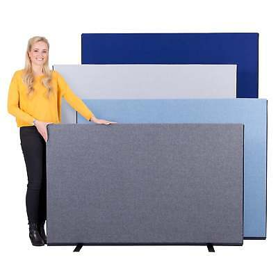 Office Screen Partition Divider 1600mm W Luxury Woolmix - 4 Heights 14 Colours