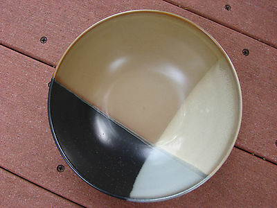 "Sango Gold Dust Black 5022 Soup Cereal Bowl  Size 7 3/4"" Tan Gray & Brown"