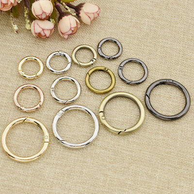 Snap Clip Trigger Spring Gate O Ring Keyring Buckle Bag DIY Decor Accessory 5pcs