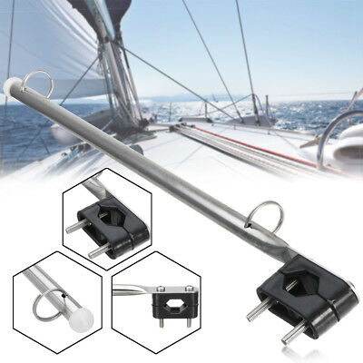 15 Inch Stainless Steel Marine Flag Staff Pole Rail Mount Holder Yachts Boat