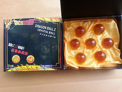 7PCS/Set Anime Dragon Ball DragonBall Z  Stereo Stars Crystal 3.5cm Ball in Box
