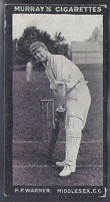 Murray-Cricket Ers Series H (Black Front)- Middlesex - Pf Warner