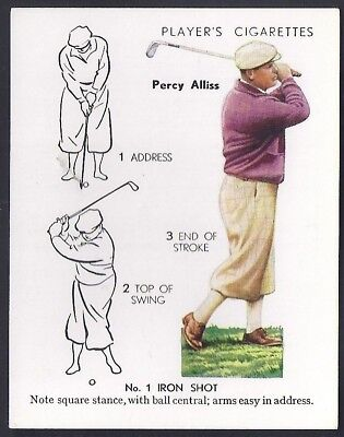 Players Overseas Issue-Golf (L25)-#02- No 1 Iron Shot - Percy Alliss